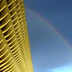 Rainbow at Preston Bus Station