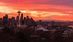 Sunrise over Seattle.