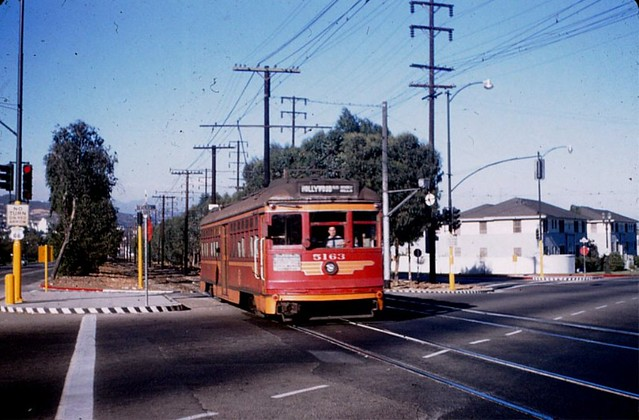 Historic Photos of Interurban Streetcars and the Division 7 Site in West Hollywood