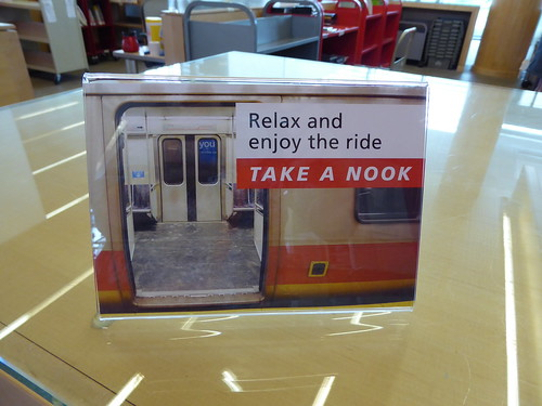 nook promotion, Main Library, Cambridge Public Library, MA