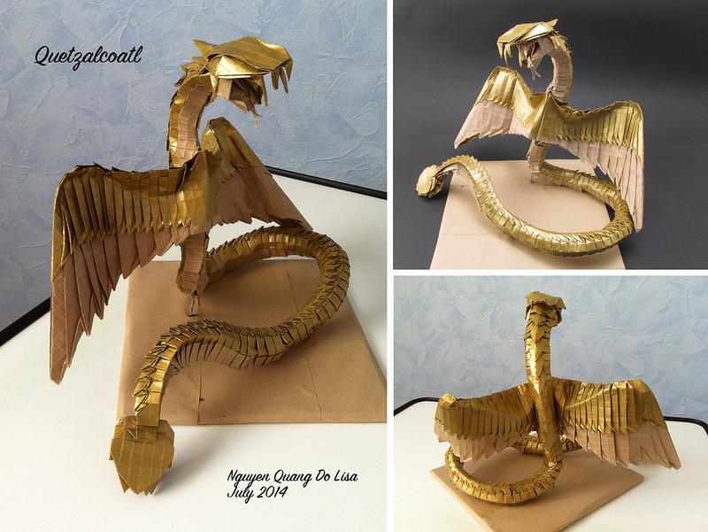Origami Quetzalcoatl