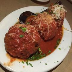 Meat balls en San Antonio. Luce ristorante e enoteca.