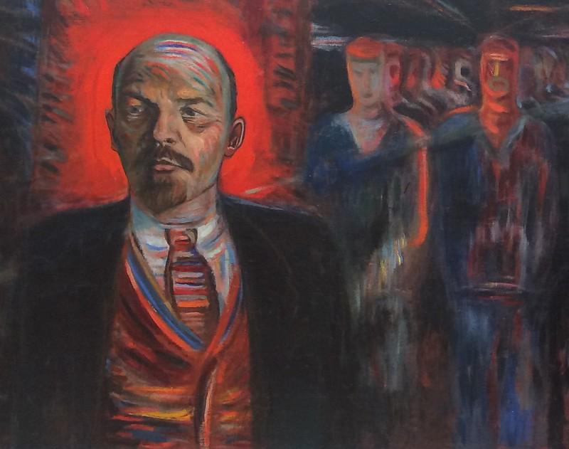 Ленин - вождь пролетариата. 1929. Фрагмент. Голополосов Борис Александрович (1900-1983)