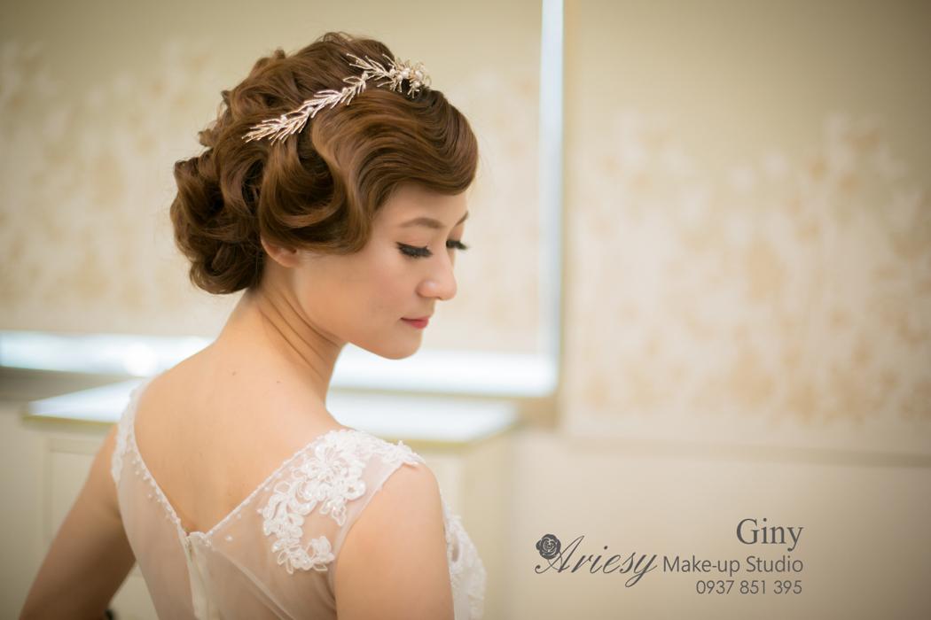 Giny,愛瑞思,愛瑞思造型團隊,清透妝感,復古造型,自助婚紗,指推,旗袍造型