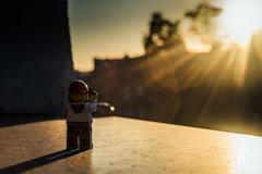 Legographer shooting sunset