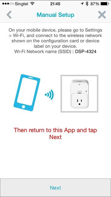 mydlink Home iOS App - Setup Step #6