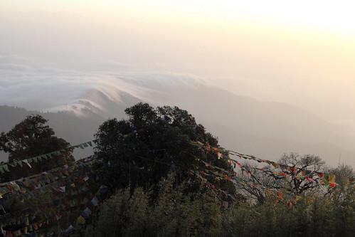 morning cloud india mountain montagne himalaya nuage darjeeling inde matin kangchenjunga