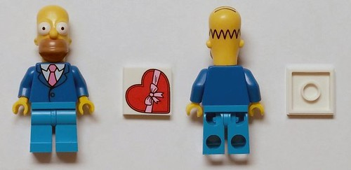 HIBBERT WITH HOMERS SKULL X-RAY 2009 NEW LEGO THE SIMPSONS MINI FIGURE DR