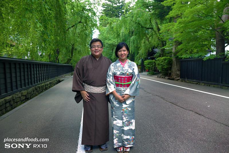 akita samurai street couple kimono