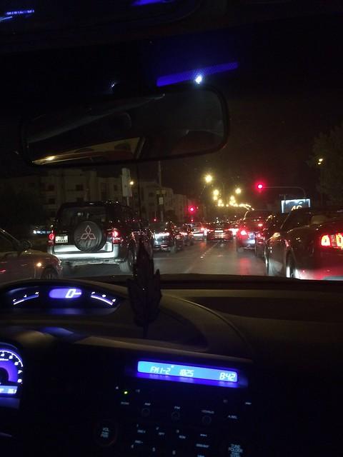 Jordan Roundup - night time traffic