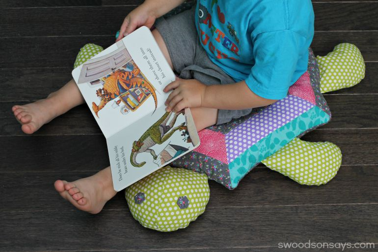 Floor Pillows Sewing Pattern : Patchwork Turtle Softie Floor Pillow