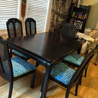 Table and chairs, finally complete! Lot of blood, sweat and tears, but mostly sweat and tears lol | by imbigwill