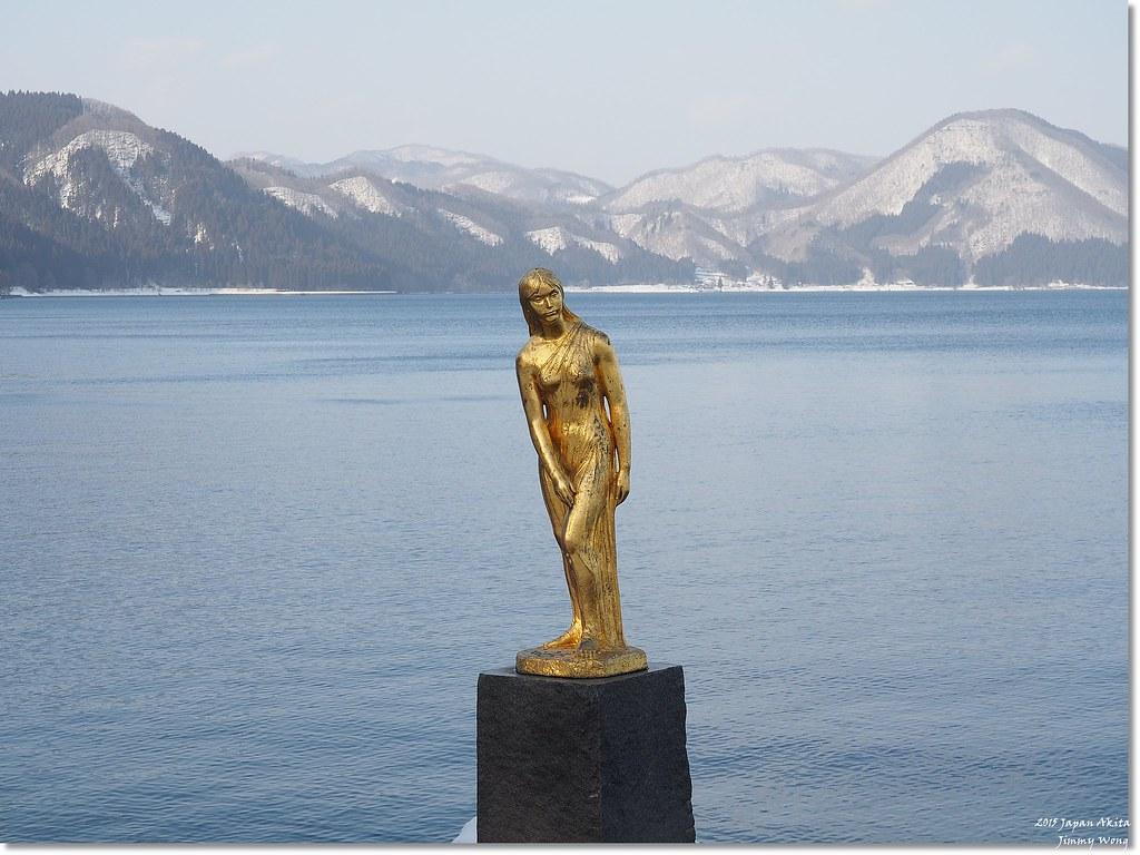 [日本東北自助行]-秋田-有著淒美傳說的田澤湖辰子像(韓劇IRIS拍攝地)