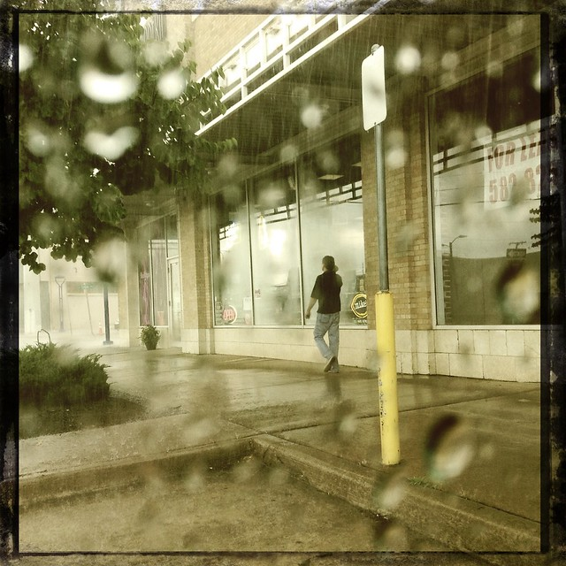 During the downpour yesterday #DownTownTulsa