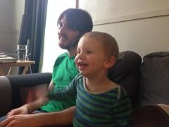 Playing MarioKart with Pat