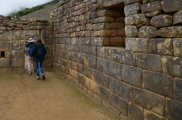 Paseando por el interior de Machu Picchu