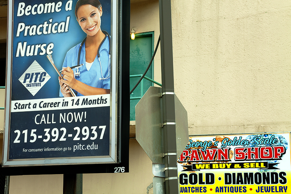 Become a Practical Nurse billboard--Center City