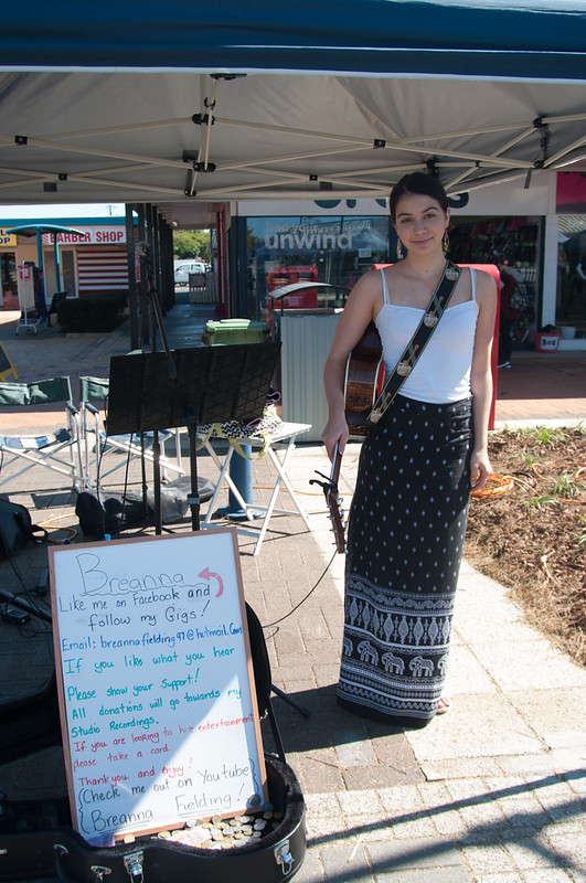 Bree Fielding aka Breanna at the Cleveland Markets, Brisbane SE Australia