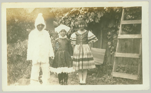 Three kids in costume