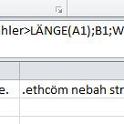 Excel rückwärts schreiben