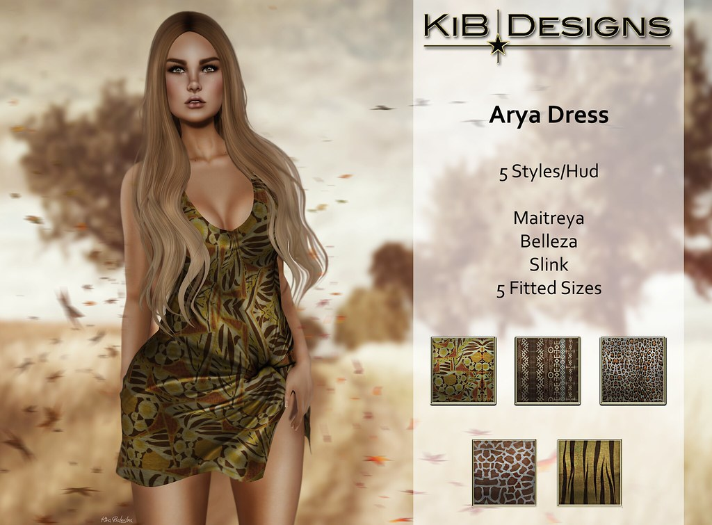 KiB Designs - Arya Dress 35% Off - SecondLifeHub.com