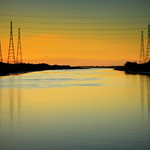 Pylons over the Ribble