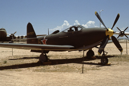 Bell P-63 Kingcobra at the Pima Air & Space Museum, 1980