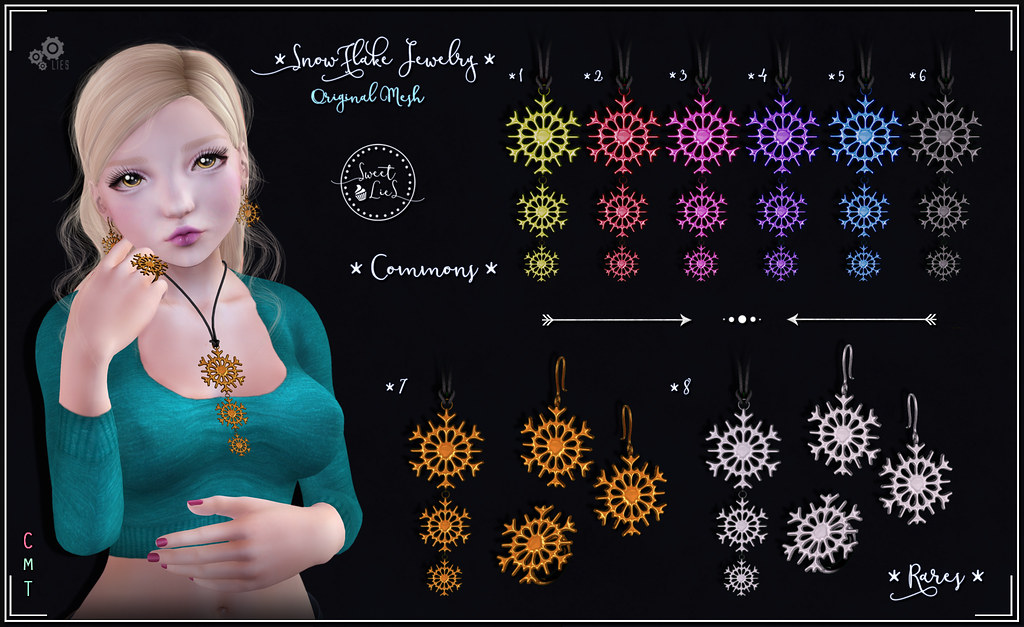 SnowFlake Jewelry Gacha - Sweet Lies Original - SecondLifeHub.com