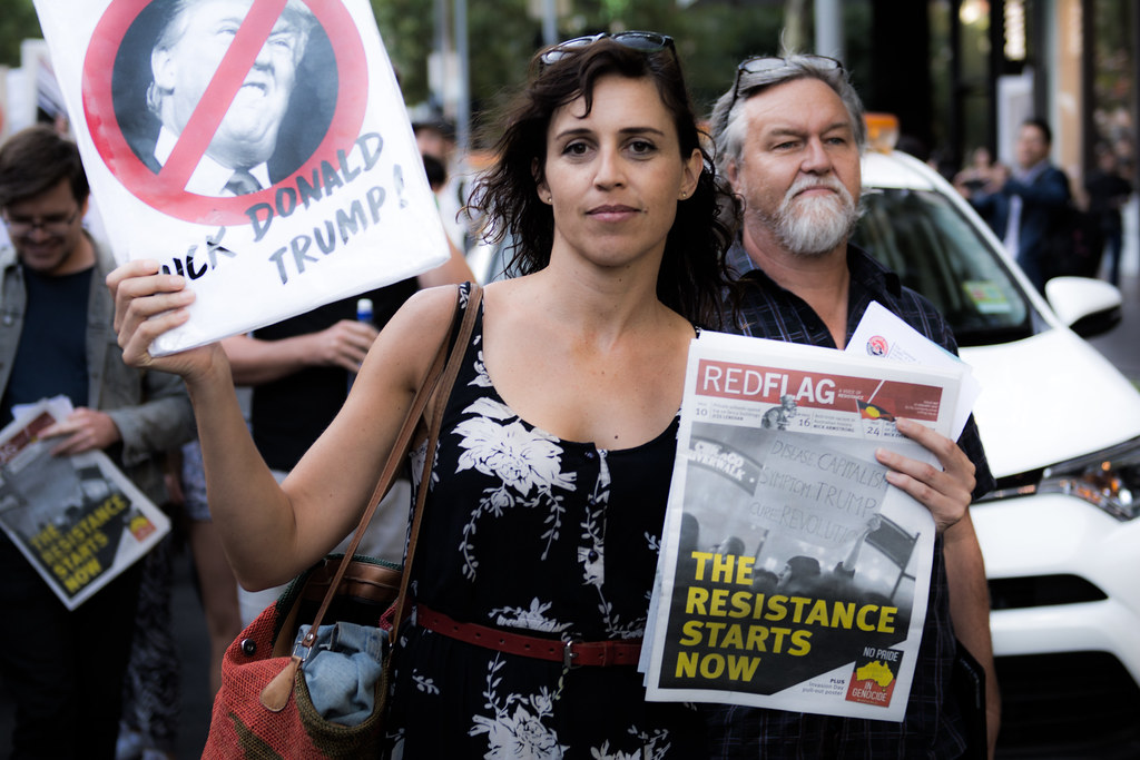 Protesting Trump in Melbourne