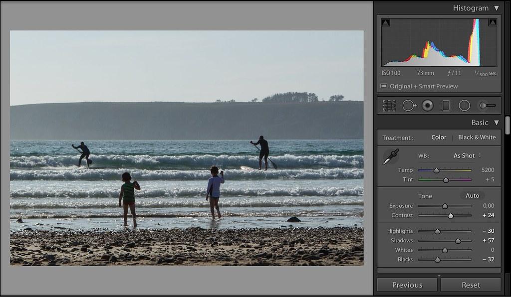 макияж, крутая обработка в лайтруме пляжной фотографии солёный водоём
