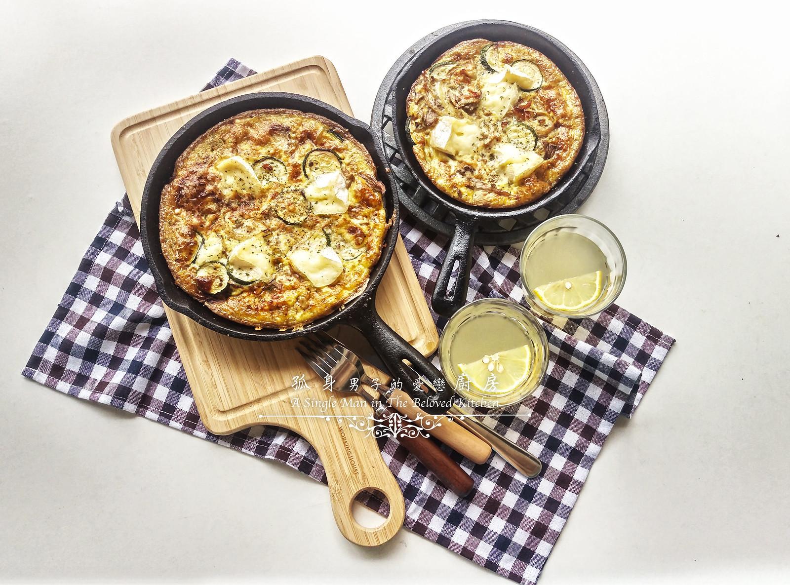 孤身廚房-清冰箱簡單早午餐!培根野菇櫛瓜義式烘蛋Frittata19