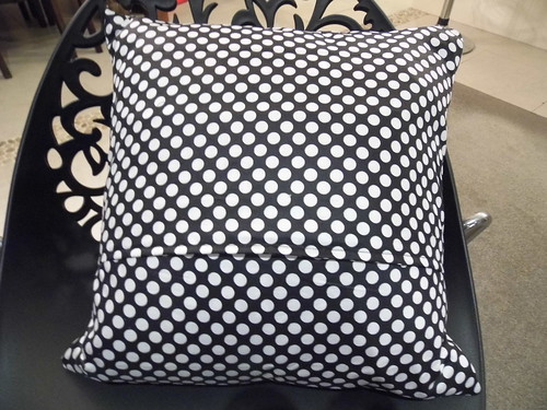 The back of the cushion