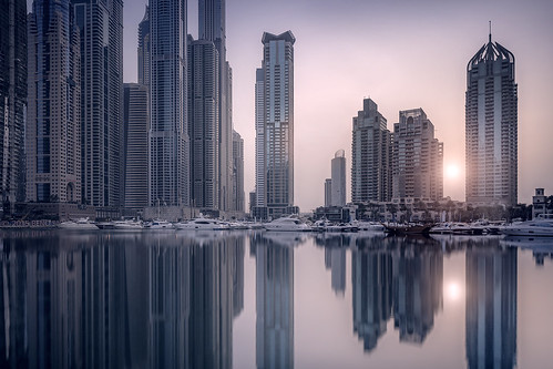 marina sunrise buildings reflections boats seaside dubai realestate skyscrapers towers middleeast wallart yachts residential luxury dubaimarina architecturephotography luxurylifestyle