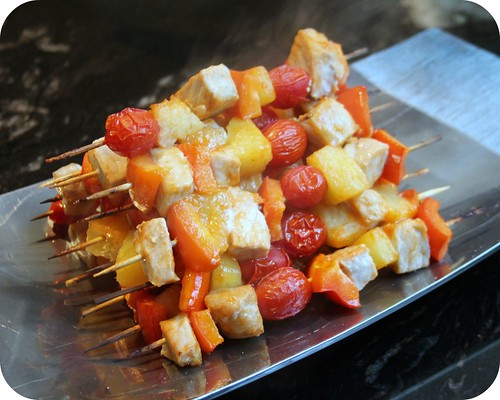 Sweet Sriracha Glazed Pork Skewers