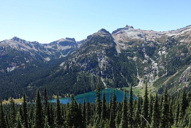 Looking down on Deep Lake