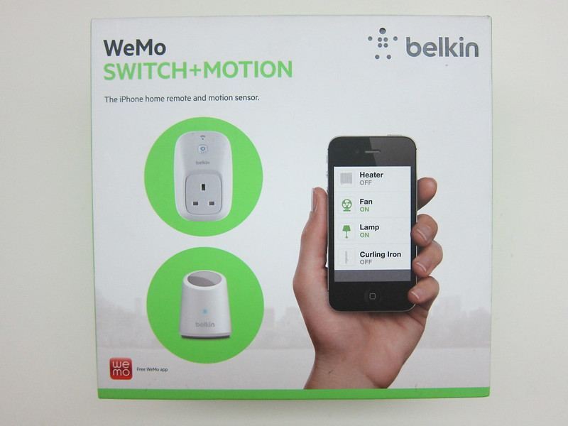 WeMo Switch + Motion - Box Front