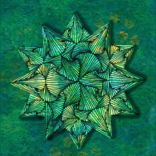 Digital painting featuring hand-drawn mandala
