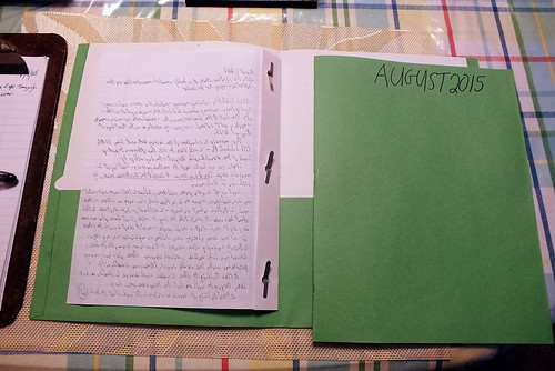 August 2015 Diary