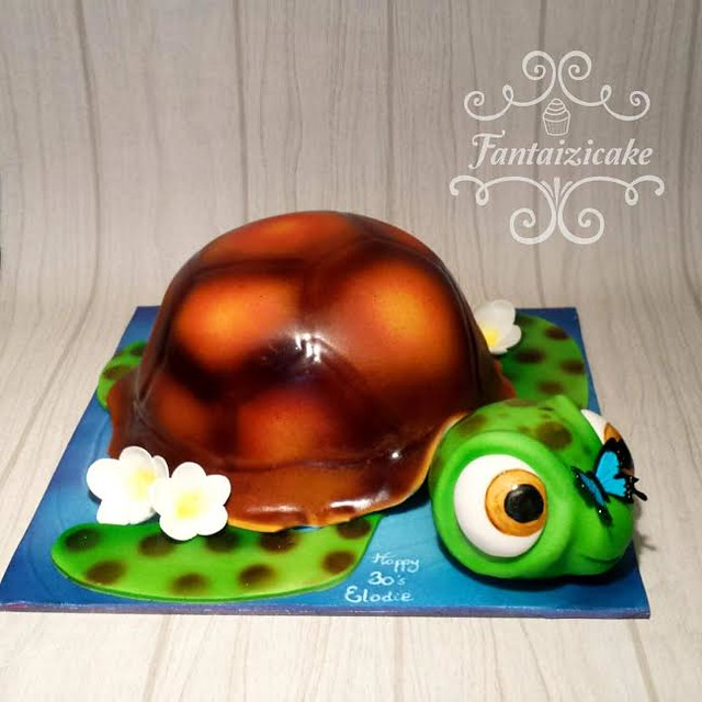 3D Sea Turtle by Sarah Valette of Fantaizicake