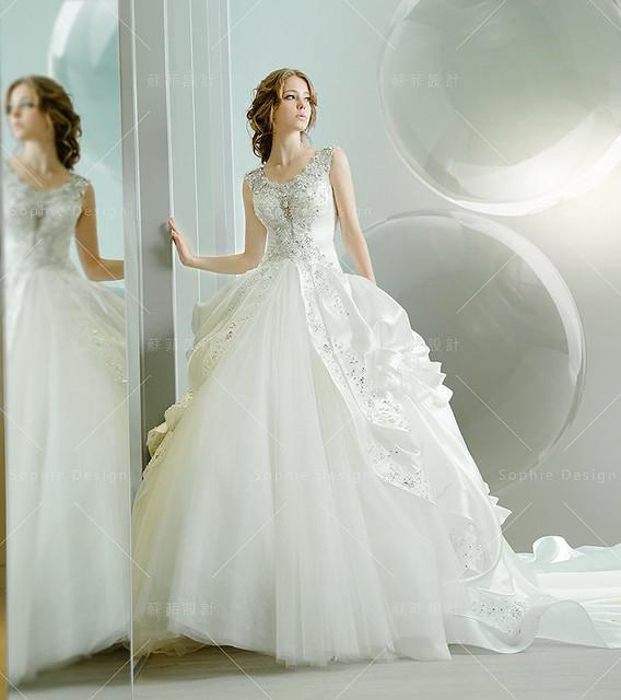 婚紗禮服,手工婚紗,單租禮服,水晶禮服