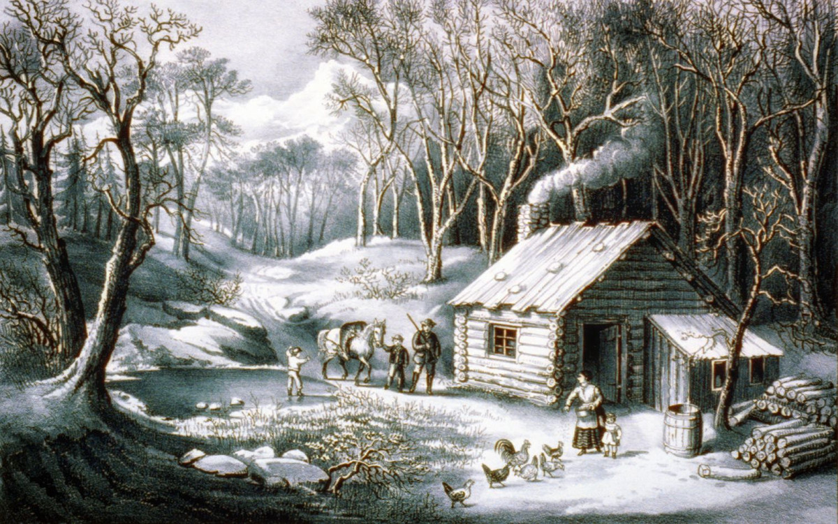 Home in the wilderness. Published by Currier & Ives, c1870