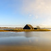 Historic wooden barn in a flooded polder - Oude boerenschuur in de Noordwaardpolder by RuudMorijn-NL