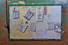 Prison bulletin board