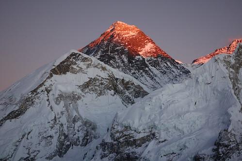 nepal sunset trekking mount himalaya everest kala patar