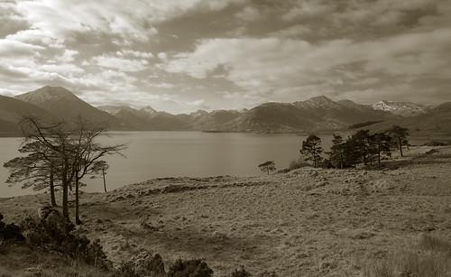 uk landscape scotland highlands toned glengarry lochquoich