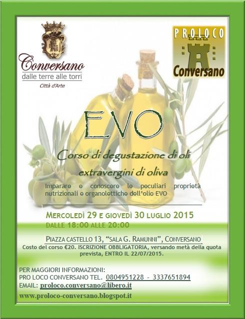Conversano-Evo Corso di Degustazione di oli extravergini di oliva