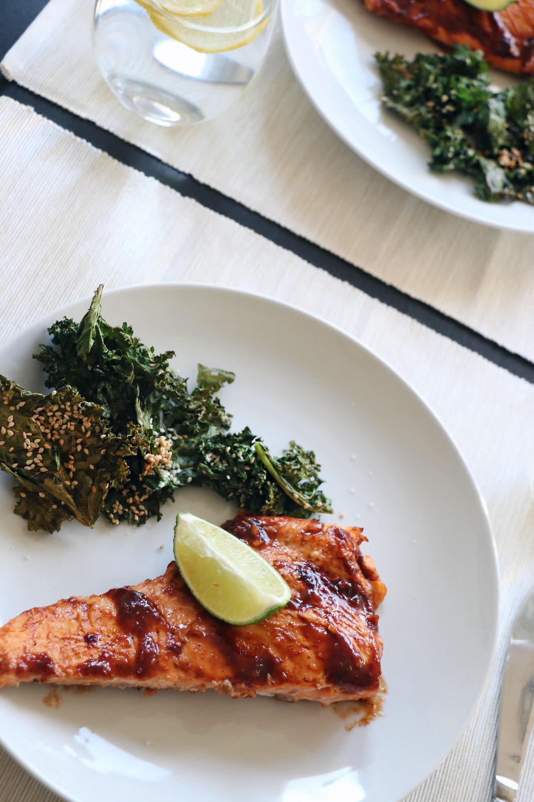salmon & crispy kale 5