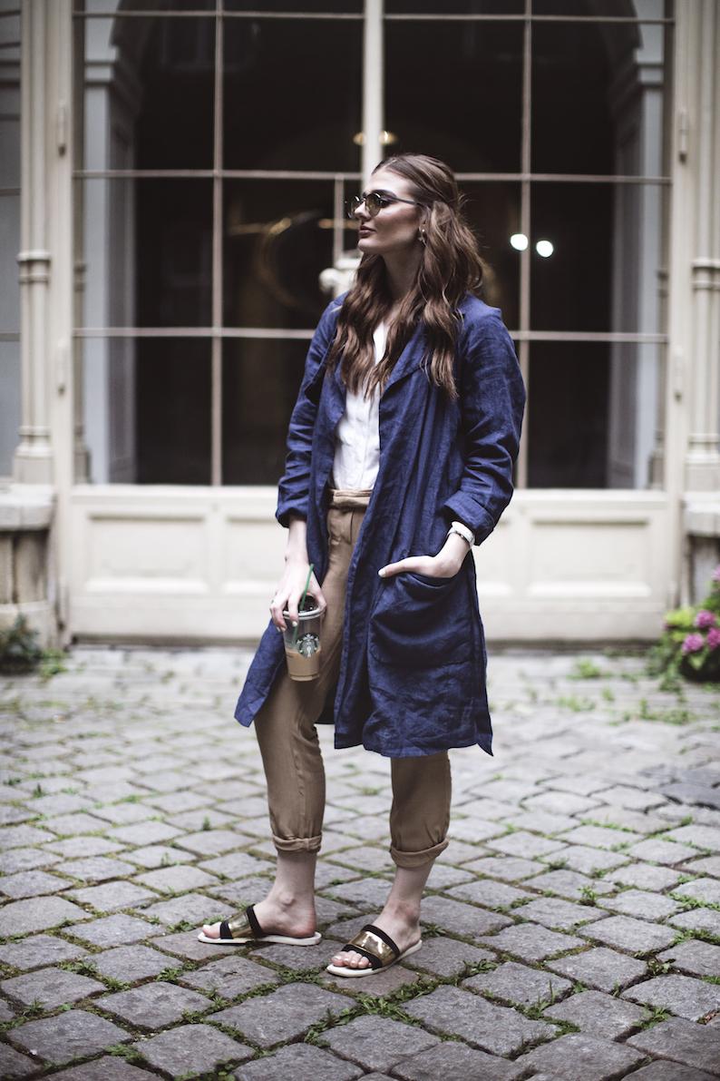 GAP Blauer Mantel