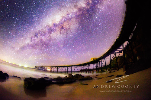 ocean lake night stars bay pier nikon nightscape jetty hill australia andrew astro catherine astrophotography nsw maquarie cooney