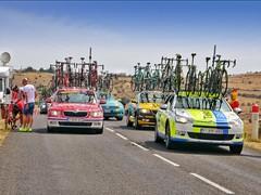 Tour de France Team Cars, TDF 2015 - Photo of Sainte-Enimie